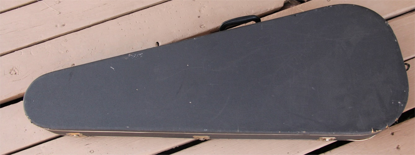 1966 Vox Vintage 60's Guitar Case Dark Gray - Red Lining, Very Good, $99.95