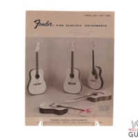 1966 Well Strung Guitars May  Fender Price List
