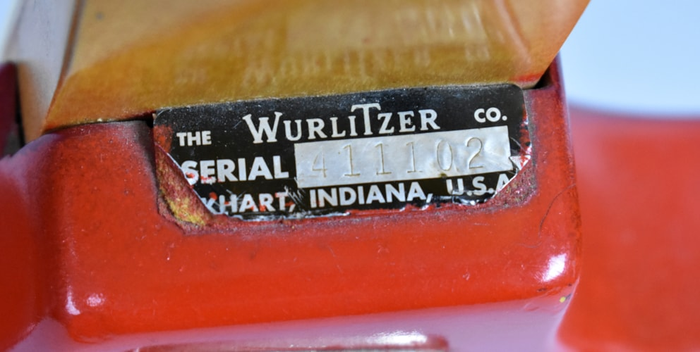 "1966 Wurlitzer Coufar ""Wild One"" Lollipop Red, Very Good, GigBag, $995.00"
