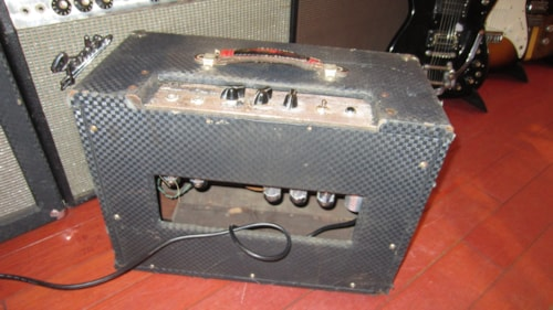 1967 Ampeg J-12T Jet Amp with Tremolo Blue Tolex, Excellent