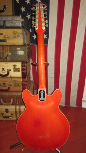 1967 BALDWIN 12 Sring Hollowbody Electric Orange, Good, GigBag, $599.00