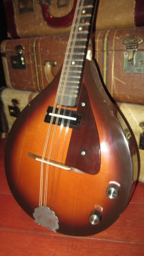 1967 Eko Electric Mandolin Sunburst, Excellent, GigBag, $599.00