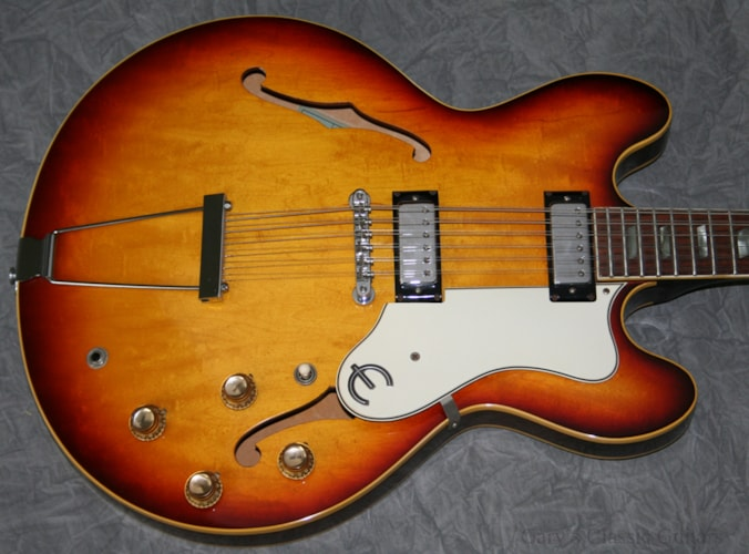 1967 Epiphone Epiphone Riviera, 12 String, Iced Tea Sunburst (#EPE0058) Iced Tea Sunburst, Excellent, Hard