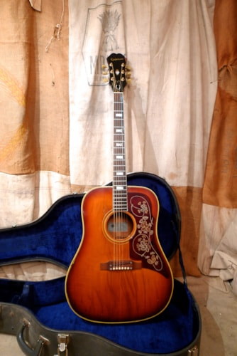 1967 Epiphone FT-110 Frontier Sunburst, Good, Original Hard, $3,950.00