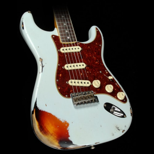 1967 Fender Custom Shop 1967 Stratocaster Aged Sonic Blue over 3-Tone Sunburst Relic