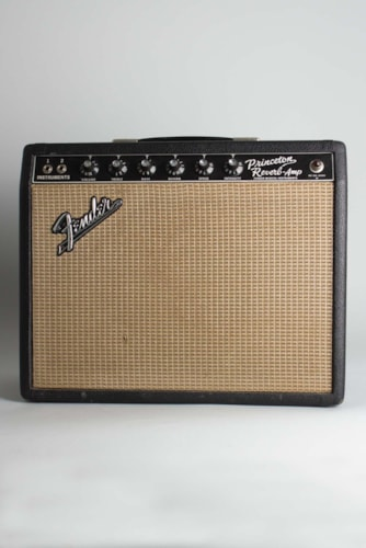 1967 Fender Princeton Reverb black tolex covering