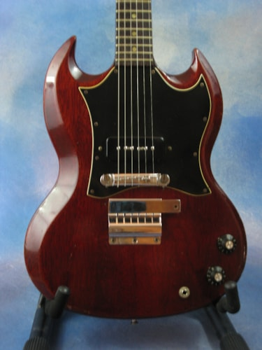 1967 Gibson 1967 SG Jr. Cherry, Very Good, Hard, $2,295.00