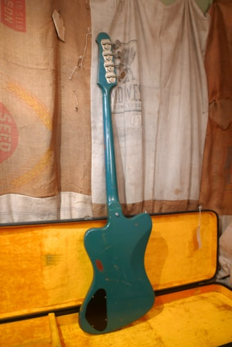 1967 Gibson Thunderbird II Pelham Blue, Very Good, Original Hard, $15,950.00