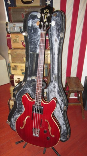 1967 Guild Starfire Hollowbody Bass Cherry Red