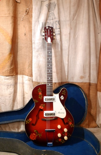 1967 Harmony Rocket Redburst, Very Good, Original Soft, $875.00