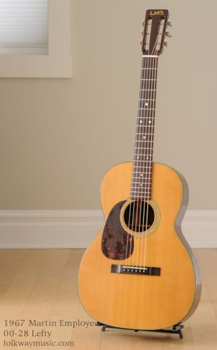 1967 Martin Employee 00-28 Lefty Excellent, Hard