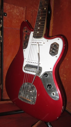 1967 Serviceman Fender® Jaguar® Copy Candy Apple Red, Excellent, Original Hard