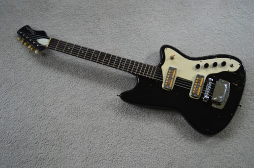 1967 Silvertone Bobkat Black, Good, Original Soft
