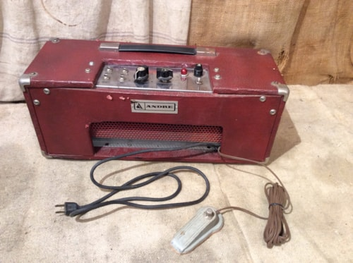 1968 Andre Audio-Tronics Spring Reverb Unit Red, Good, $475.00