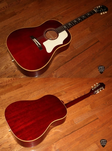 1968  Epiphone Texan FT-79  Cherry Red