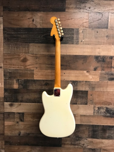 1968 Fender Custom Shop Duo Sonic II Olympic White, Good, Original Hard