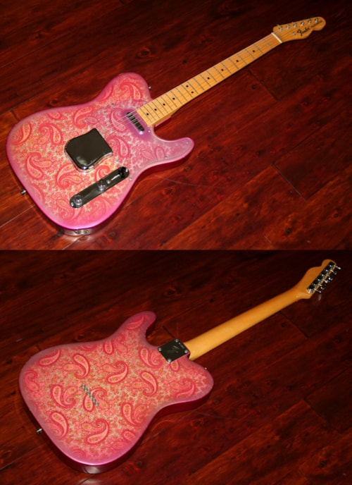 1968 fender paisley telecaster fee0798 pink paisley guitars electric solid body gary 39 s. Black Bedroom Furniture Sets. Home Design Ideas
