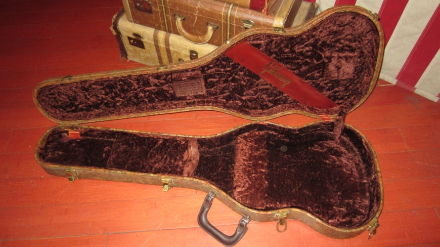 1968 Gibson Artist Model Paisley Floral SG Case Paisley Floral, Excellent, Original Hard, $695.00