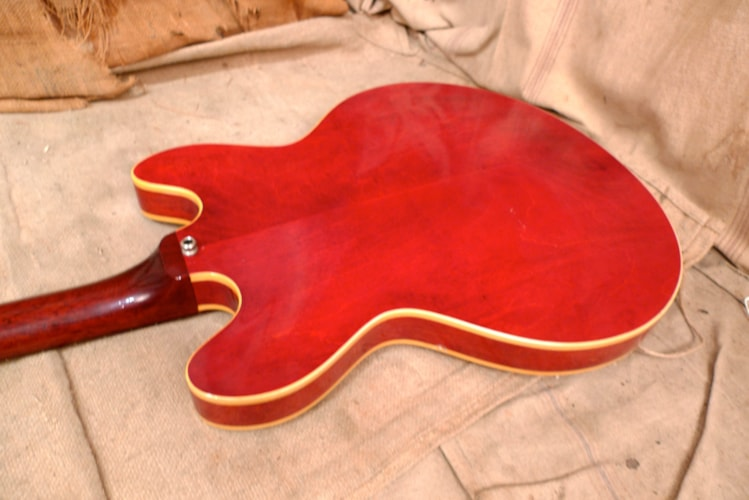 1968 Gibson EB-2D Cherry Red, Good, GigBag