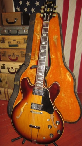 1968 Gibson ES-335 TD Sunburst, Excellent, Original Hard