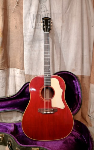1968 Gibson J 45 Cherry Red Excellent Hard 495000