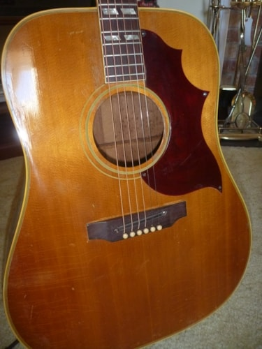 1968 Gibson Southern Jumbo SJN Country Western Natural, Very Good, Hard
