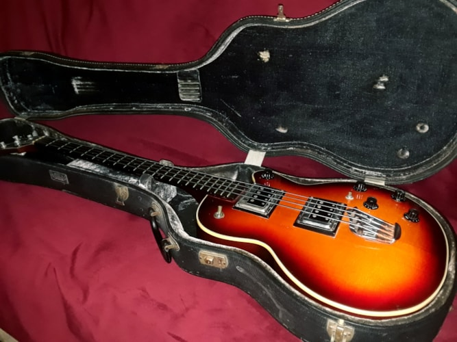 1968 Guild® M-85 II Bass Sunburst, Very Good, Original Hard, $2,999.00