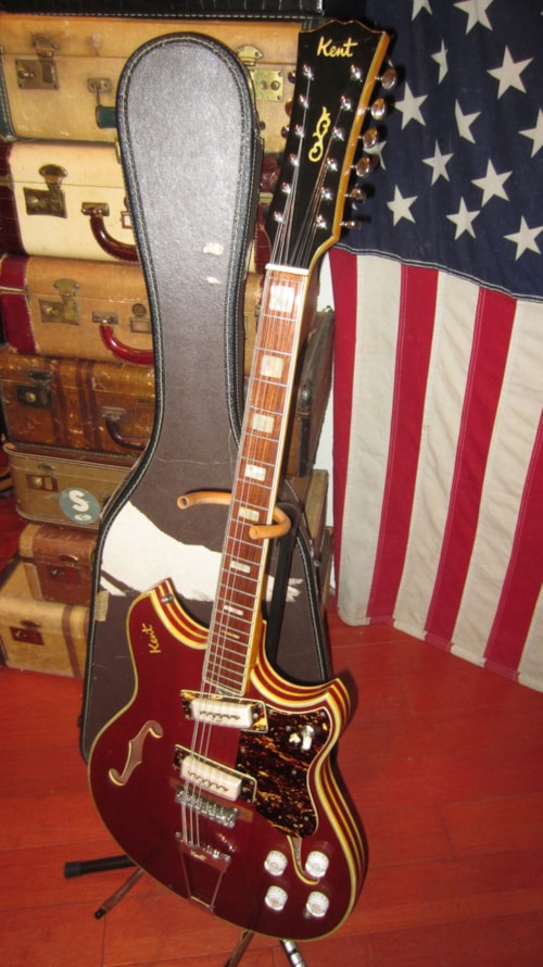 1968 Kent Model 820 12 String Electric Red Gt Guitars 12