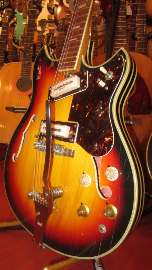 1968 Kent Model 820 Hollowbody Electric Sunburst Gt Guitars