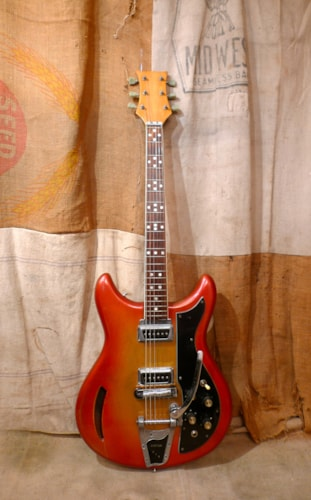 1968 Kustom K-200 Orangeburst, Very Good, Hard, $1,150.00