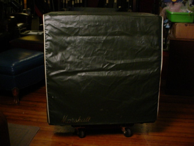 1968 Marshall Green Levant Cover For Slant 4X12 Cabinet 1960A Green Levant, Excellent, $375.00