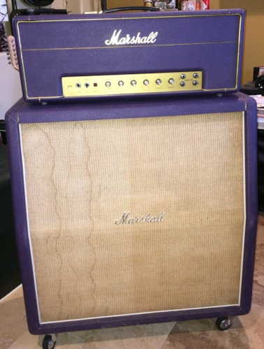 "1968 Marshall JMP Plexi 50 watt in Purple 4 X 12"" Cab original speakers Museum Quality"