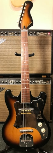 1968 Teisco/ Decca/Zenon/Audition Single Pickup Sunburst, Very Good, $175.00