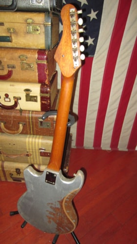 1968 Trump Tesico Solidbody Two Pickup Electric Silver, Good