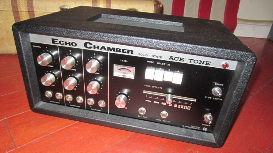 1969 Acetone Echo Chamber Analog Delay Black, Excellent, $899.00