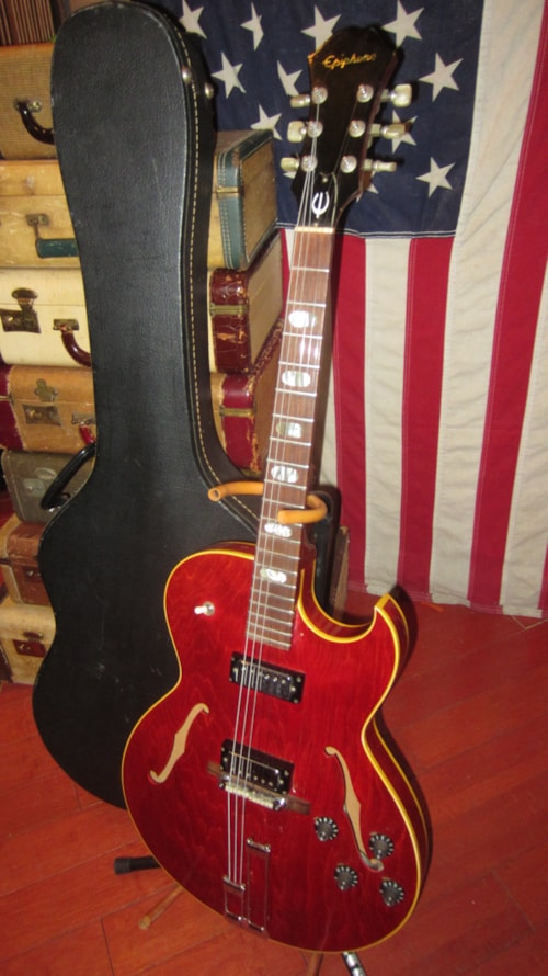 1969 Epiphone Sorrento Double Pickup Cherry Red Gt Guitars