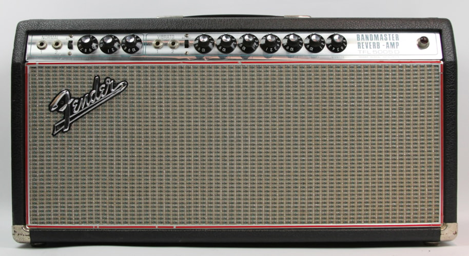 1969 Fender® Bandmaster Reverb Drip Edge Head Silverface, Excellent, $999.00