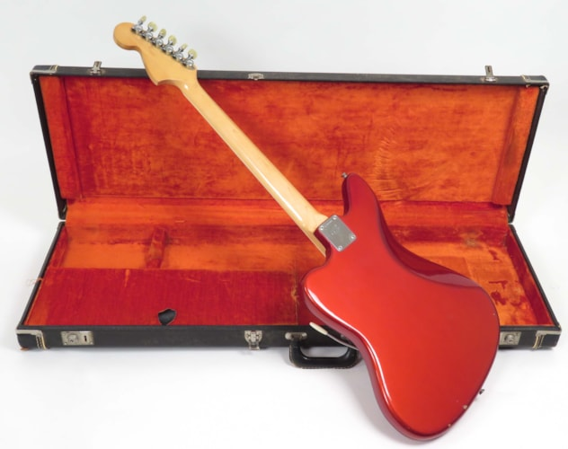 1969 Fender Jaguar Candy Apple Red, Excellent, Original Hard