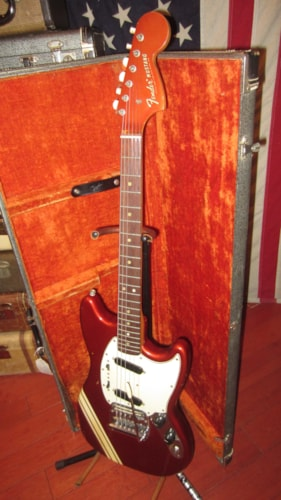 1969 Fender® Mustang® Competition Red, Excellent, Original Hard, $2,499.00