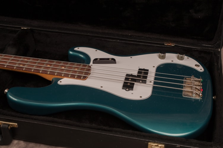 1969 Fender® Precision Bass® Ocean Turquoise, Excellent, Hard, $1,950.00