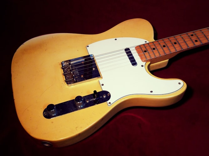 1969 Fender Telecaster Olympic White, Good, Original Hard, $3,299.00