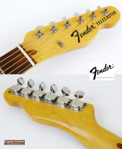 1969 Fender Telecaster Vintage Blonde Trans, Very Good, Original Hard