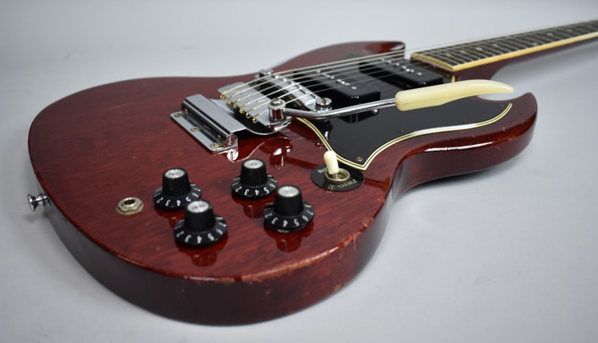 1969 Gibson Vintage SG Special Cherry Red Finish Electric Guitar USA w/O Red, Very Good, Original Hard, $2,395.00