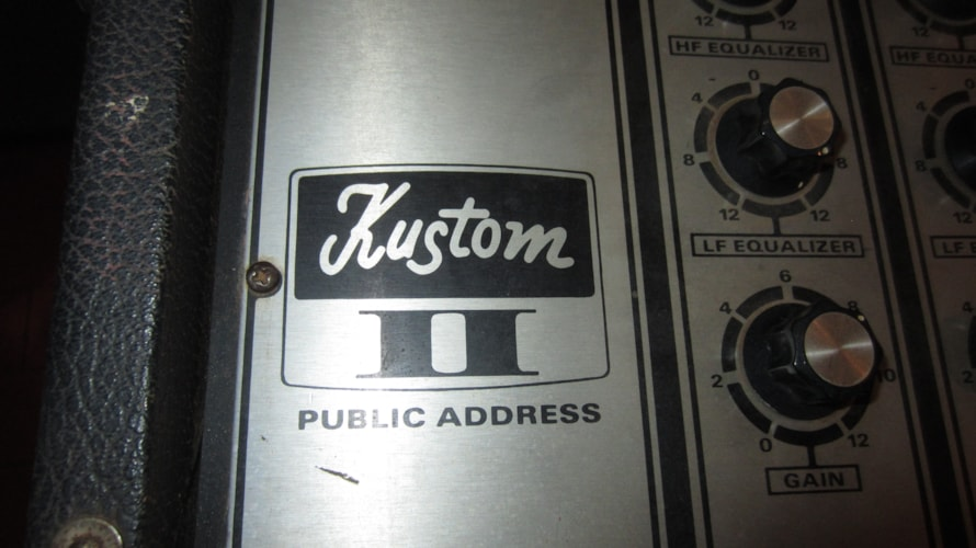 1969 Kustom Kustom II Public Address PA System Chrome and Black, Excellent, $249.00