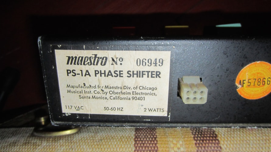 1969 Maestro Phaser PS-1A Phase Shifter Black, Excellent, $349.00