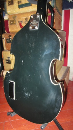 1969 Univox Beatle Bass Violin Bass Hofner Copy Blackface, Very Good, GigBag