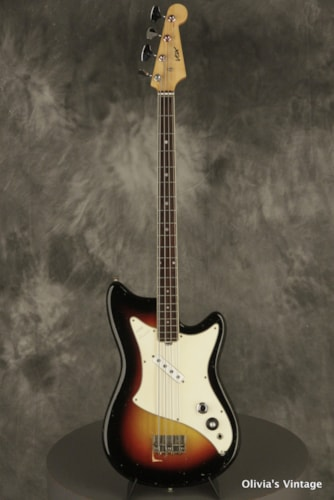 original 1960's VOX Panther short-scale BASS Sunburst made in Italy