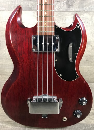 1970 Gibson EB-0 Cherry, Excellent, Hard