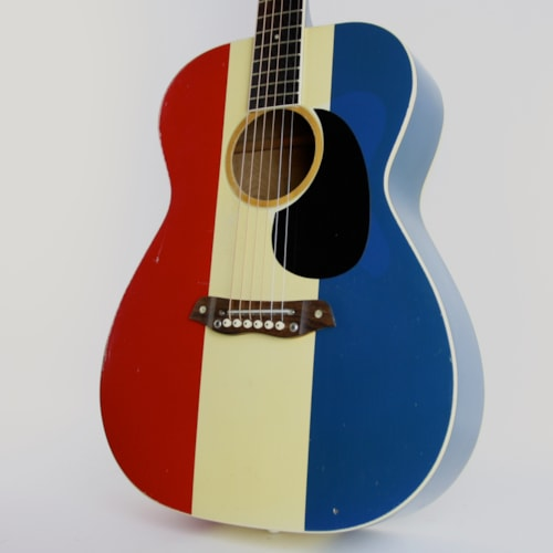 1970 Harmony Buck Owens American Red White And Blue Guitars