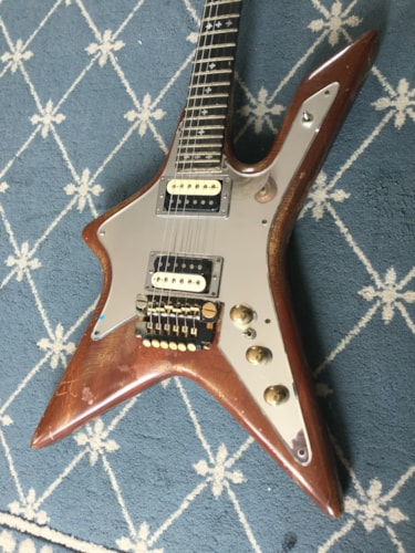 1970 M One of a Kind Custom Electric Guitar Natural Mahogany, Very Good